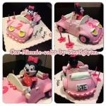 Minnie Car Cake by Sketiglyka